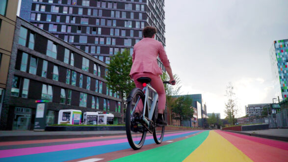 Ride with Pride: The world's longest rainbow bike path as a sign of acceptance, equality and safety